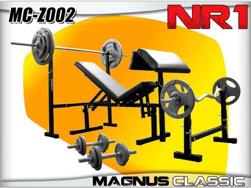 Bench + equipment for the gym 111kg Magnus MC-Z002