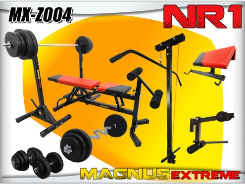Bench with weight set Magnus Extreme MX-Z004 179 kg