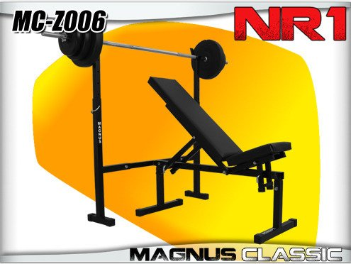 MAGNUS MC-Z006 Press bench + bar and barbell