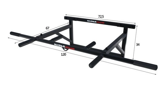 MAGNUS ®  MP1036  Bodybuilding bar for pull ups exercises